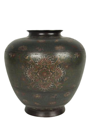 A Large Chinese Cloisonne Bronze Vase Avery Dash Collections