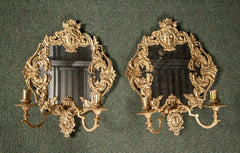 Pair of Louis XIV Bronze D'ore Sconces