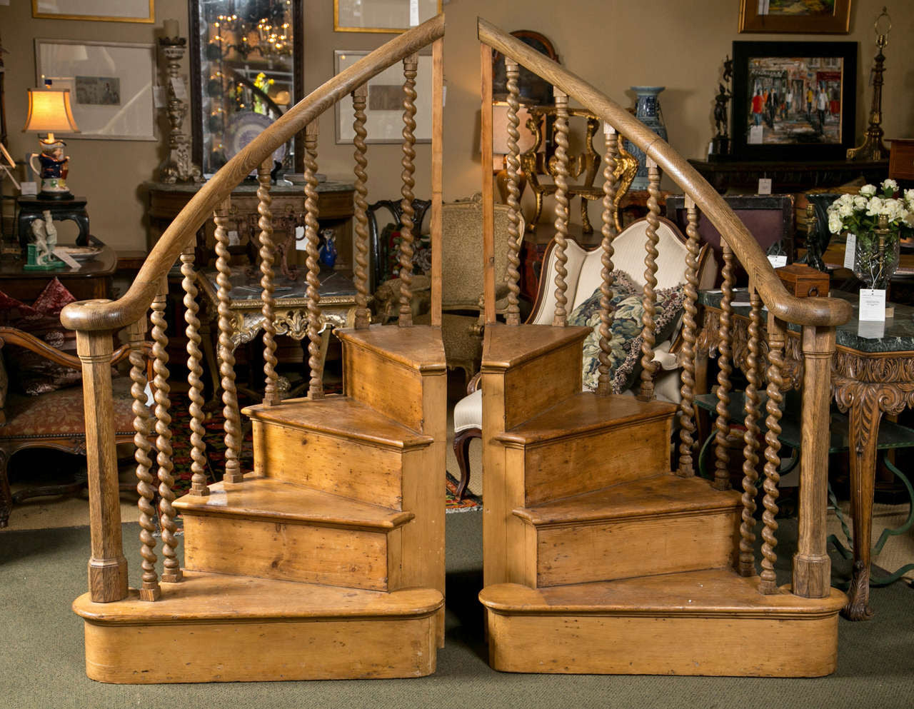 Antique Pine Stair Steps