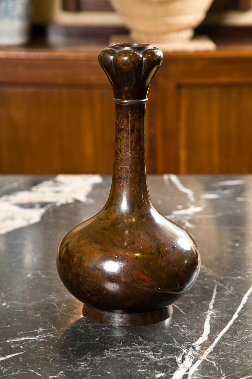 Bronze Bottle Neck Vase