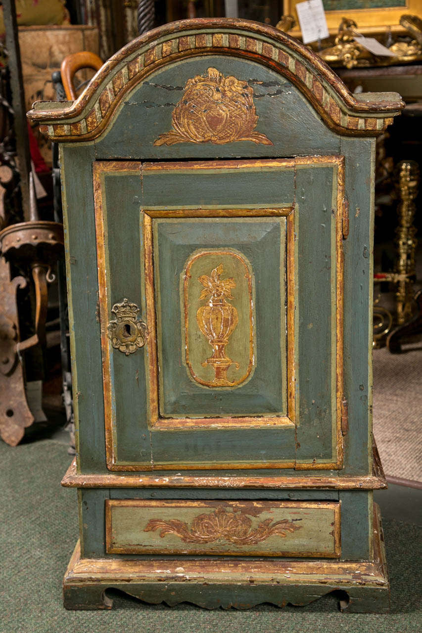 European Painted Cabinet