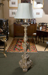 18th Century Candlestick Mounted as a Lamp