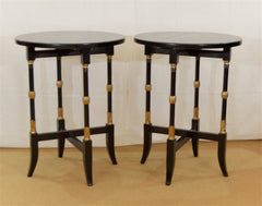 Regency-Style Folding Occasional Tables from the Fontainebleau Hotel