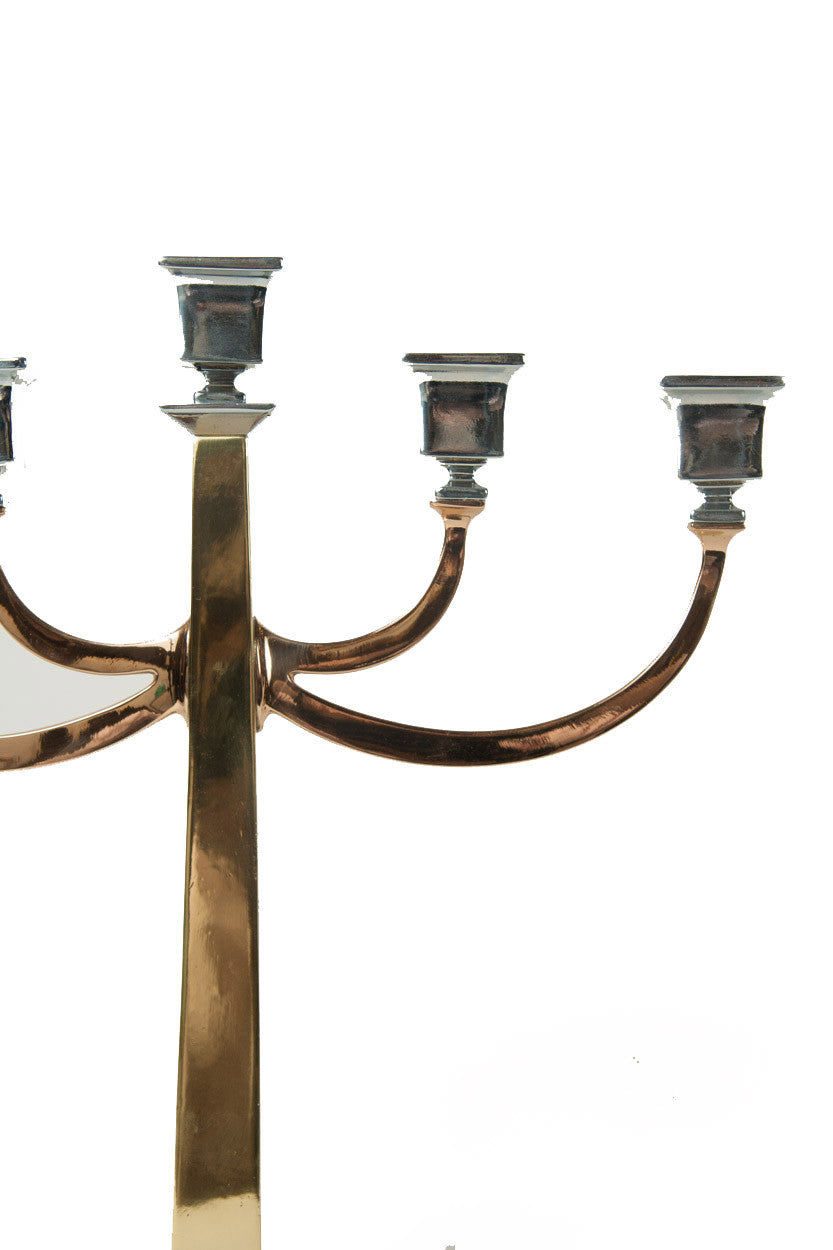 A Pair of Arts and Crafts Bradley and Hubbard Candelabra