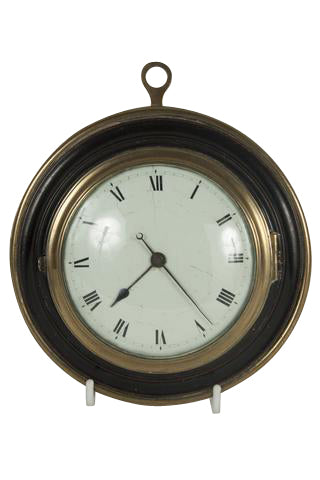 An English Brass and Ebony Wall Clock