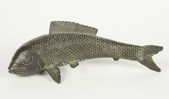 A Showa Period Japanese Bronze Koi Fish
