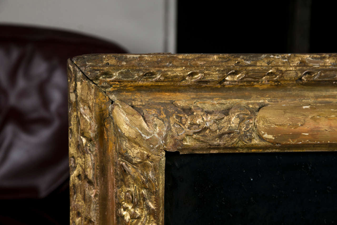 SOLD  10/01/2020   French Gilt Wood Mirror