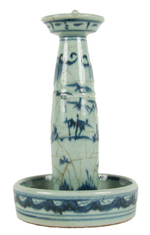 Chinese Blue and White Candlestick