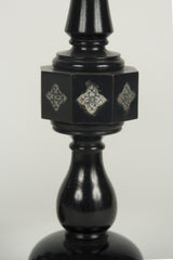 A Pair of Cotswold School Ebonized Candlesticks
