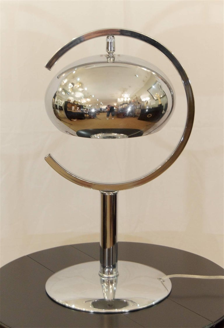 """Saturn"" Chrome Dropshade Desk Lamp"