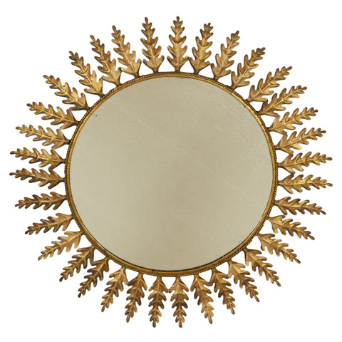 Huge Metal Round Leafed Spanish Mirror