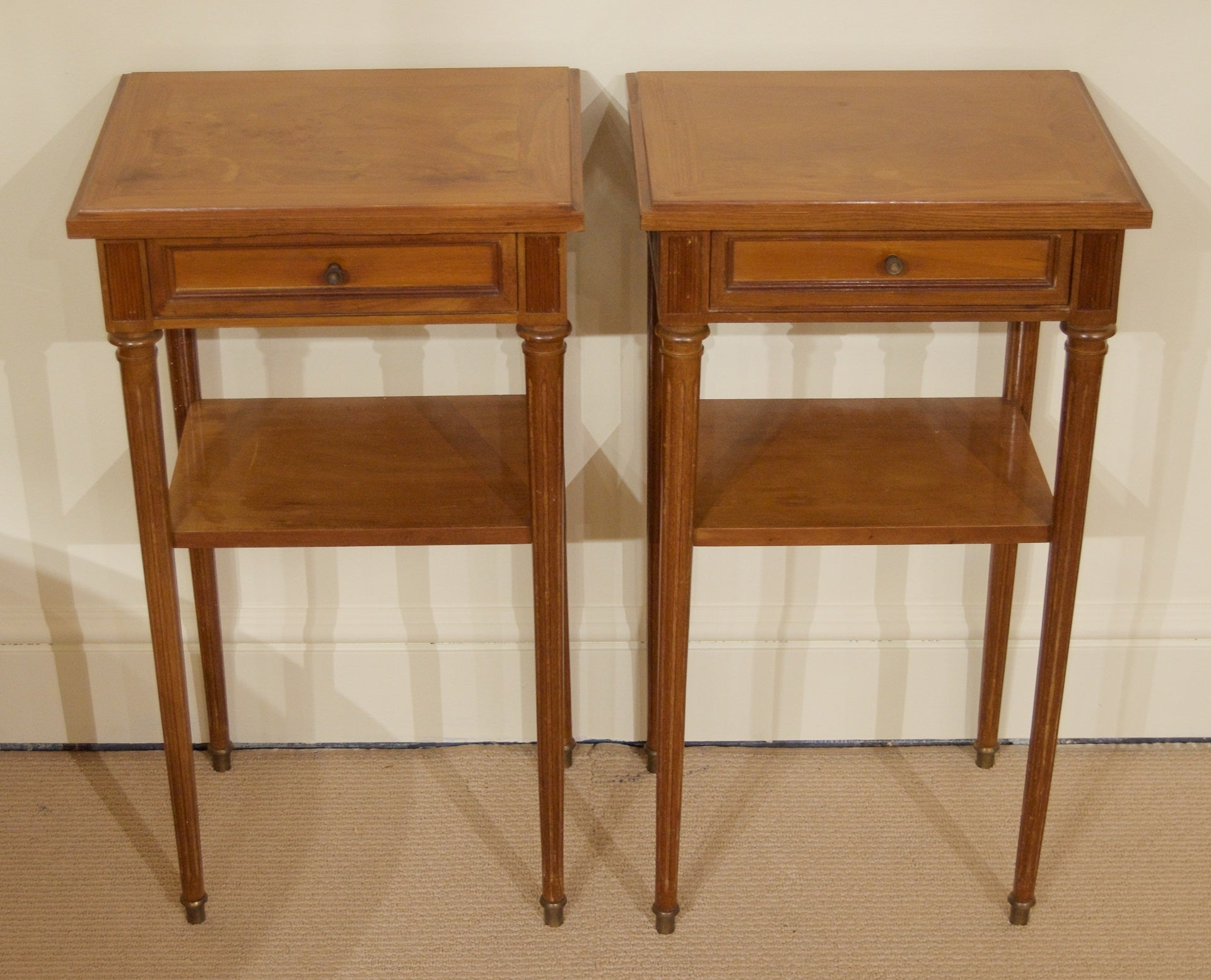 Pair of Regency Style Nightstands or End Tables