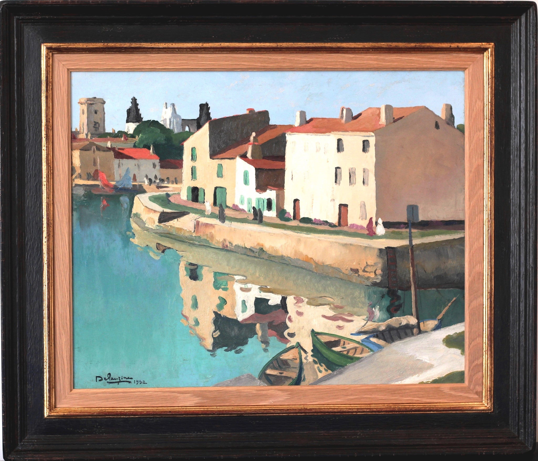 "DELAUZIERES, Andr̩e(French, 1904-1941) ""Harbor of Saint Martin de R̩"" (Ile de R̩, France) ‰ÛÒ 1932"