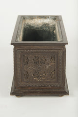 A French Gothic Revival Bronze Planter
