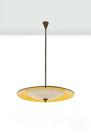 A Drop Pendant Light Designed by Crystal Art Circa 1960.