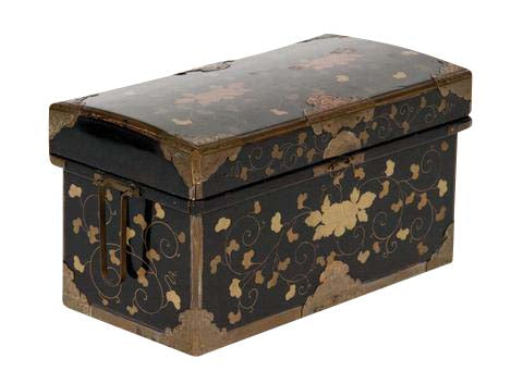 Japanese Meiji Period Lacquered Trunk Form Box
