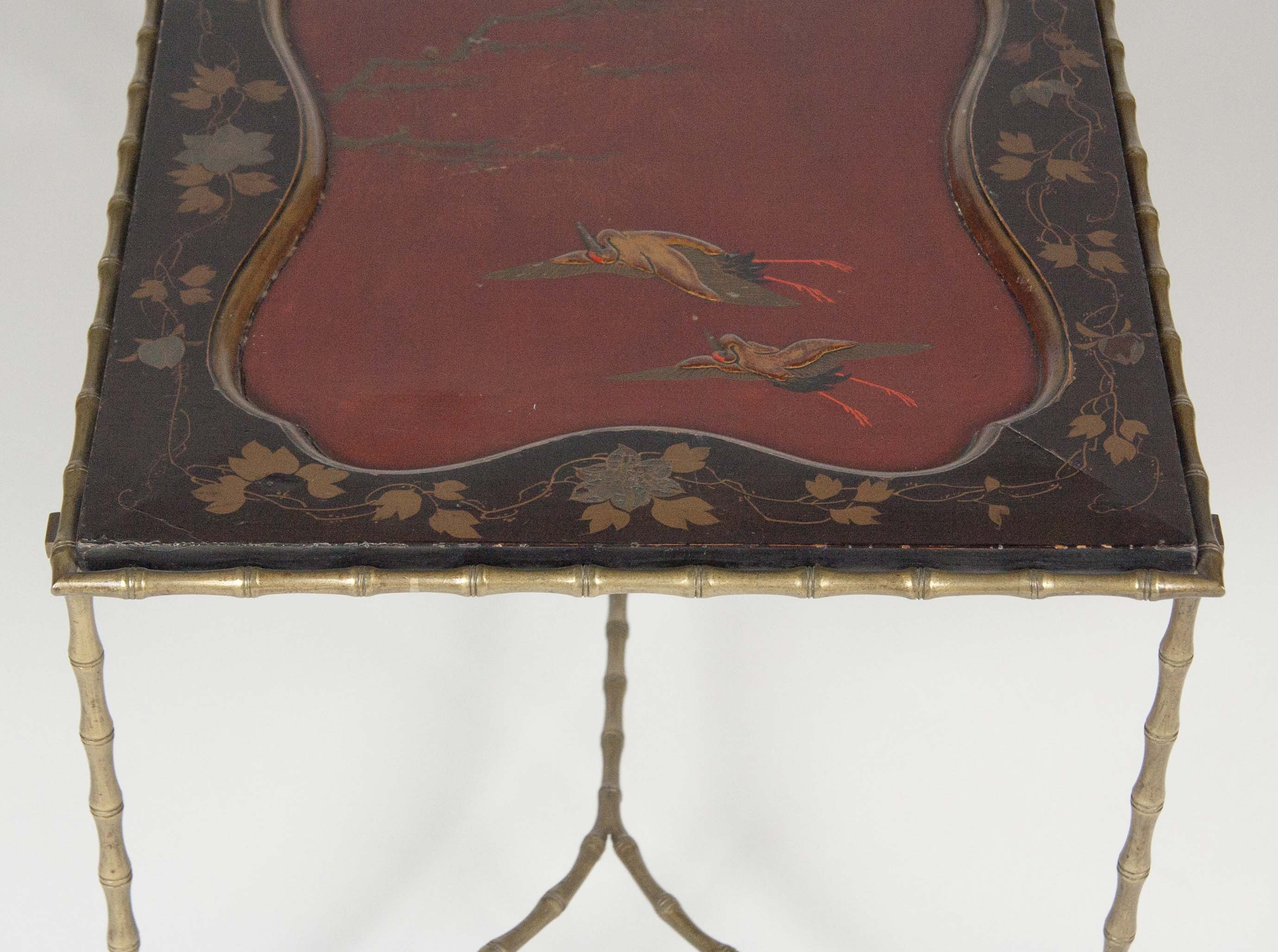 Japanese Lacquered Top upon Bagues Bronze Base