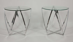 Round Glass Coffee Table by Roger Sprunger for Dunbar
