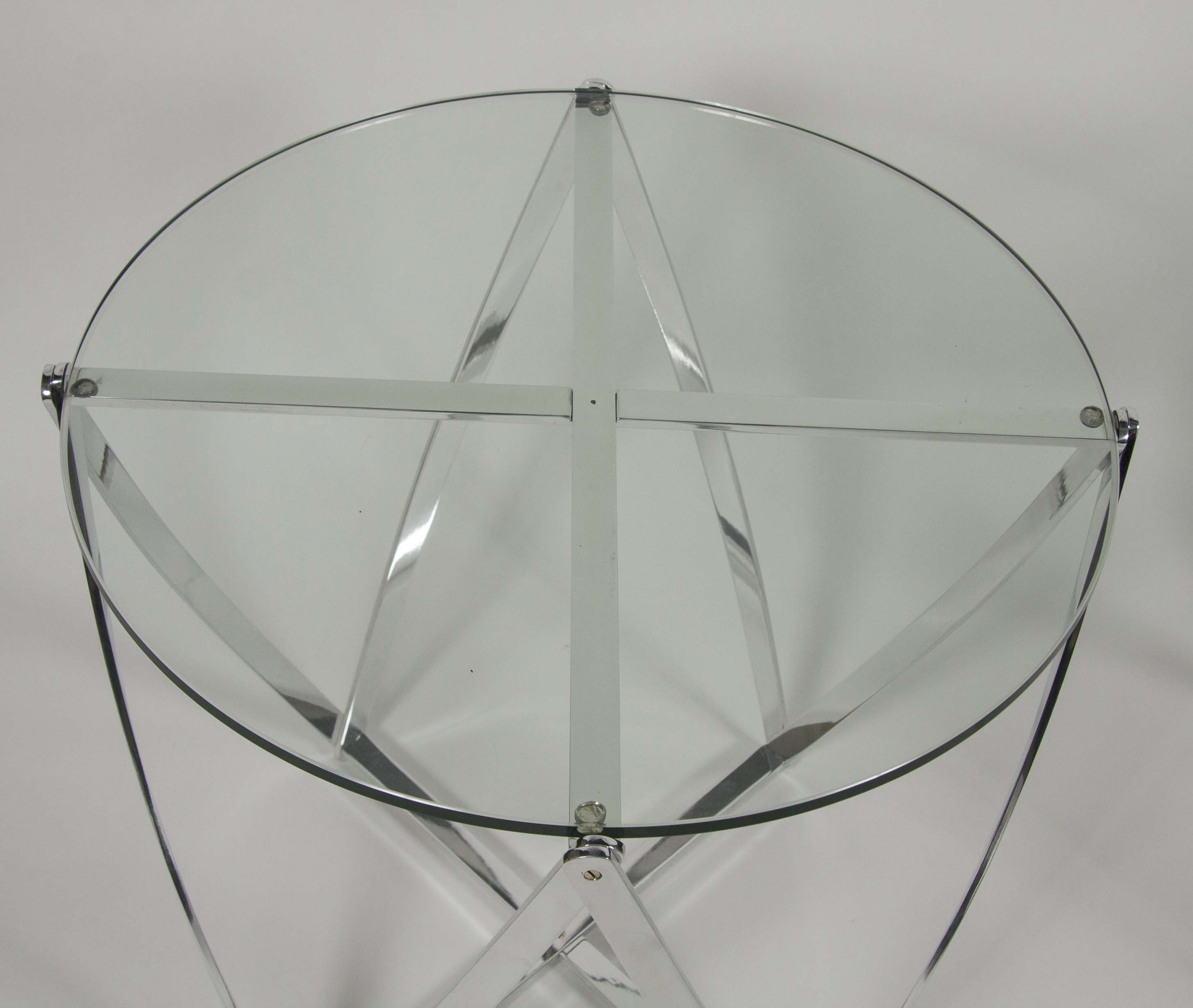 Round Glass Coffee Table by Roger Sprunger for Dunbar – Avery