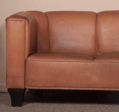 Leather Sofa by Austrian Designer Josef Hoffmann