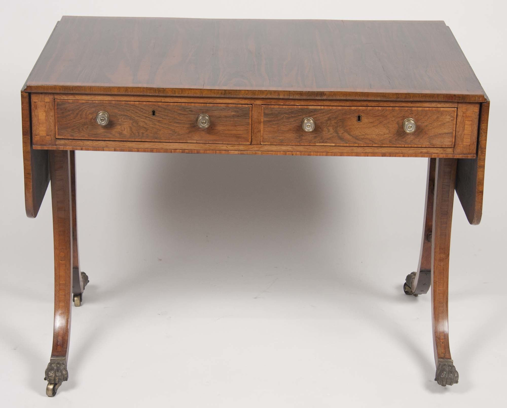 Fine Regency Rosewood Sofa Table