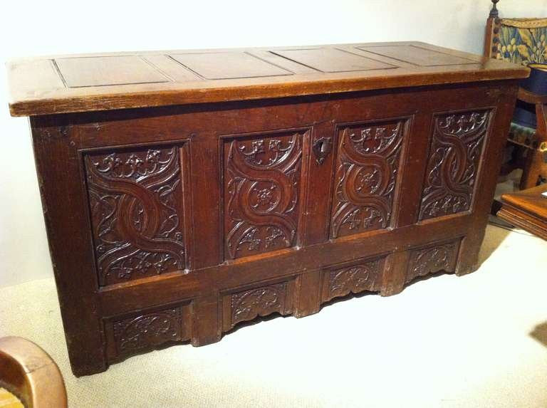 Northern European Gothic Oak Chest
