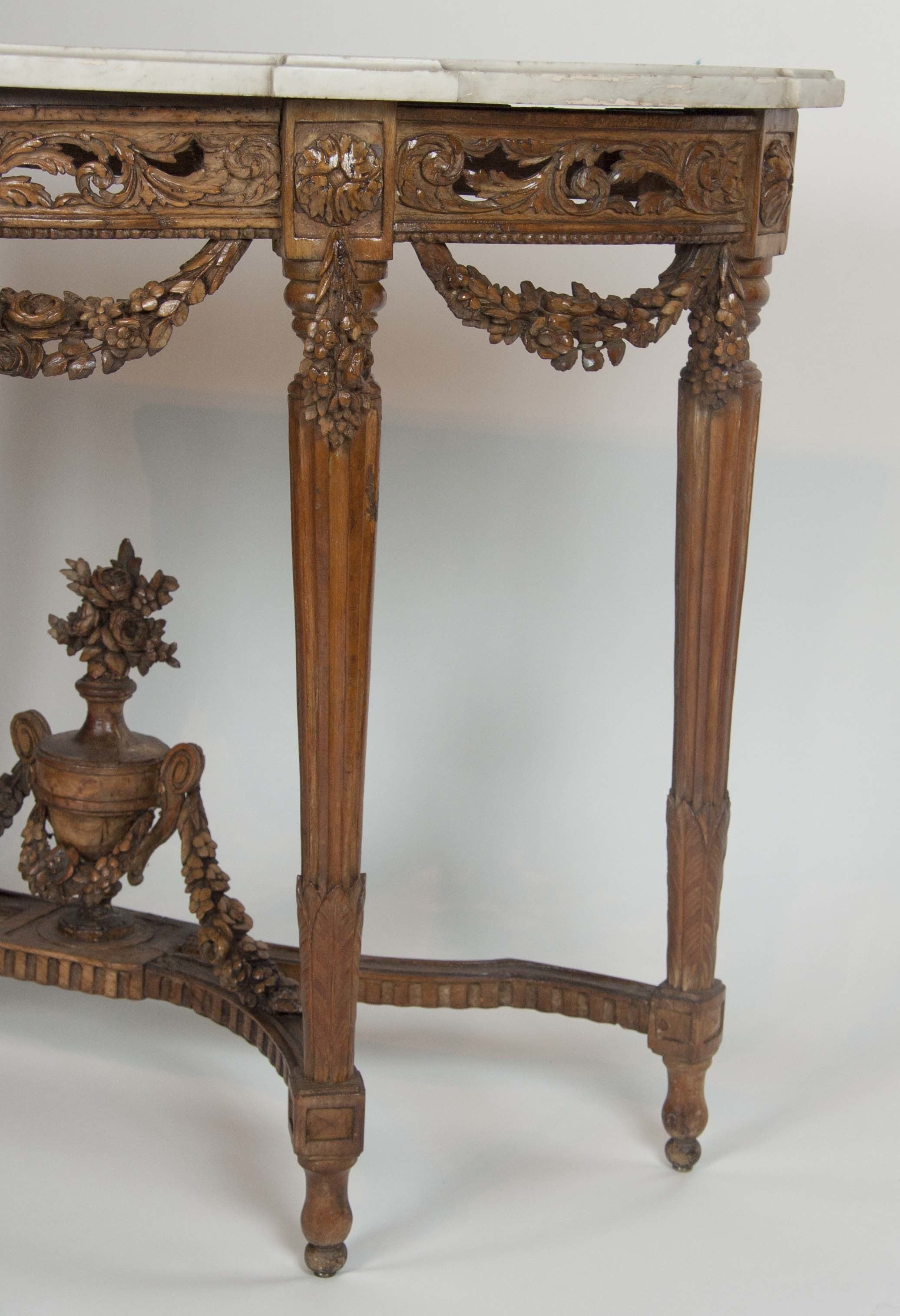 Louis XVI Marble Top Console