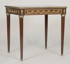 Late 19th Century Brass Inlaid & Bronze Mounted Side Table