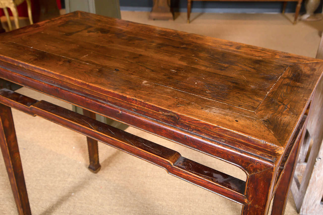 Chinese Elm Wood Console Table