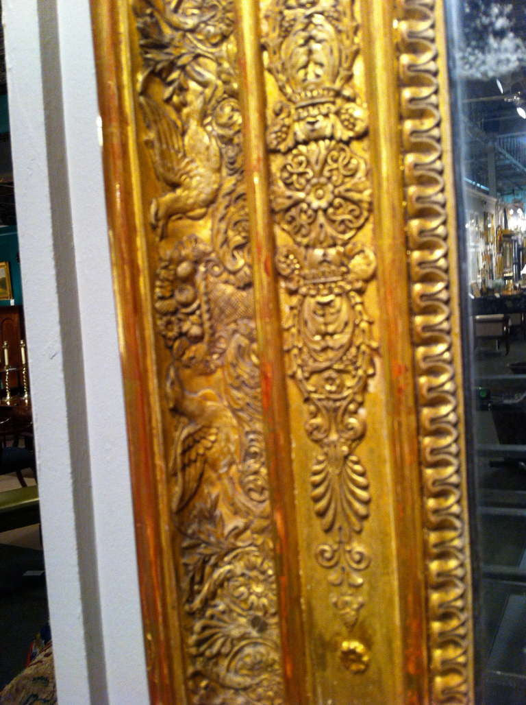 Larger Scale Gilt Wood Mirror