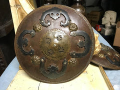 Rare Ottoman Iron and Brass Miniature Battle Shield
