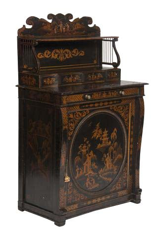Japanned Black and Gilt Chiffonier