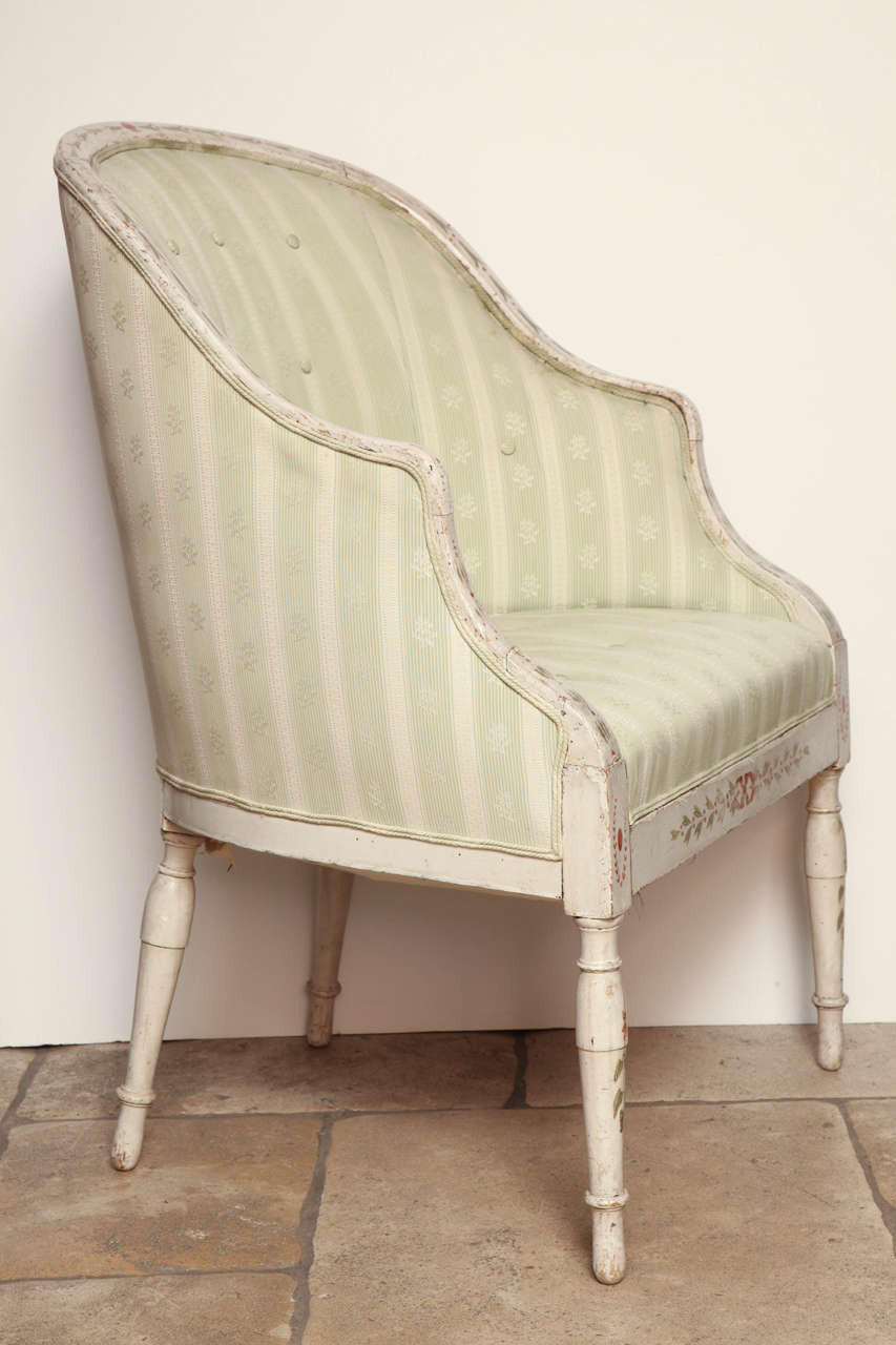 George III Tub Back Bergere