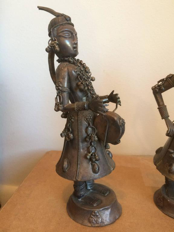 Group of Four Nepalese Silver Musicians