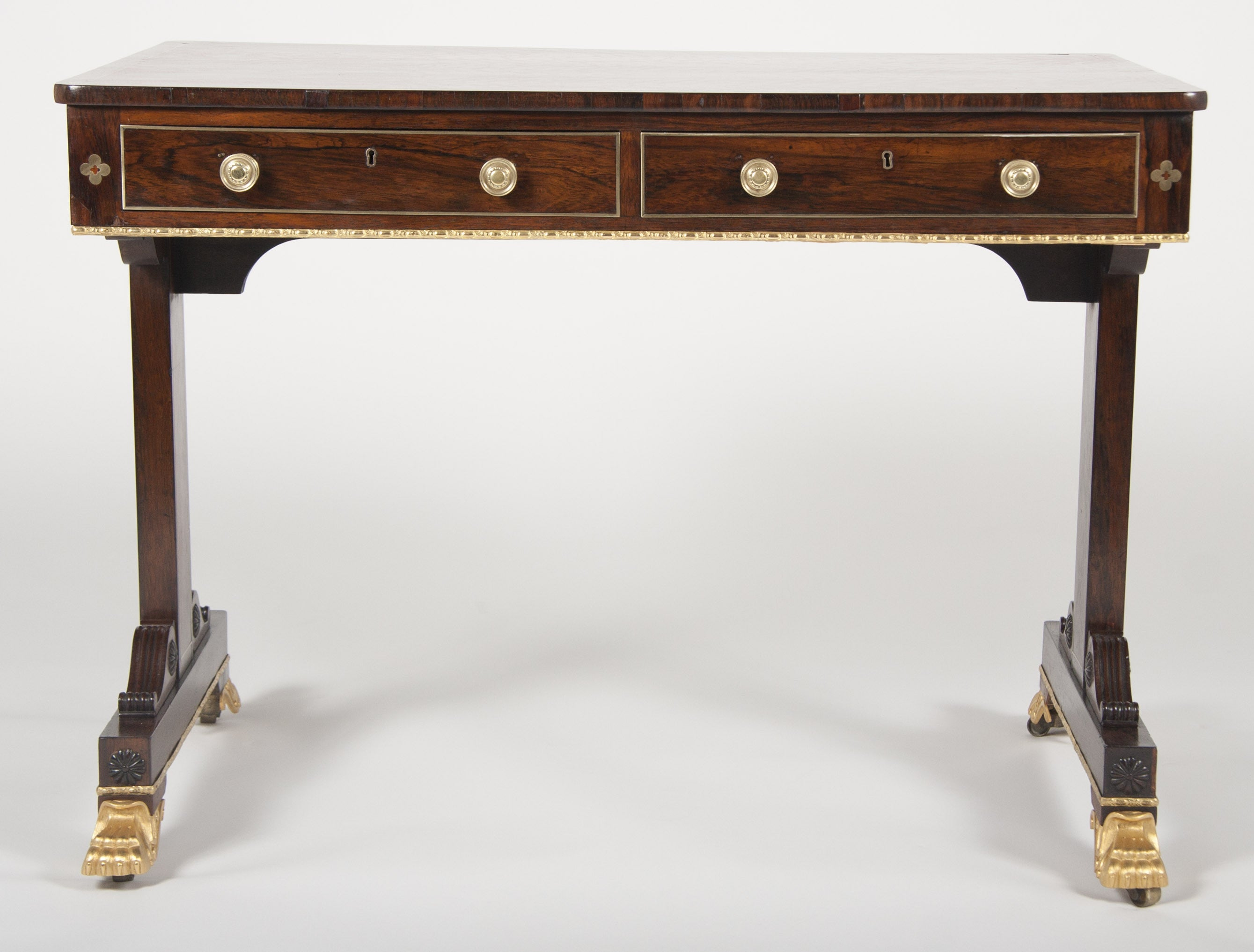 Very Fine English Regency Library Table