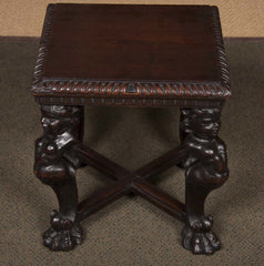 Pair of Carved Wooden Stools