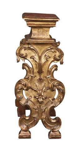Italian Carved Gilt Wood Bust Stand