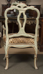 Pair of Italian Painted and Gilt Armchairs
