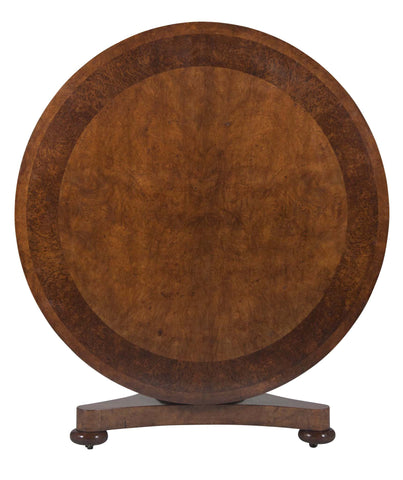 William IV Burr Ash & Brown Oak Center Table