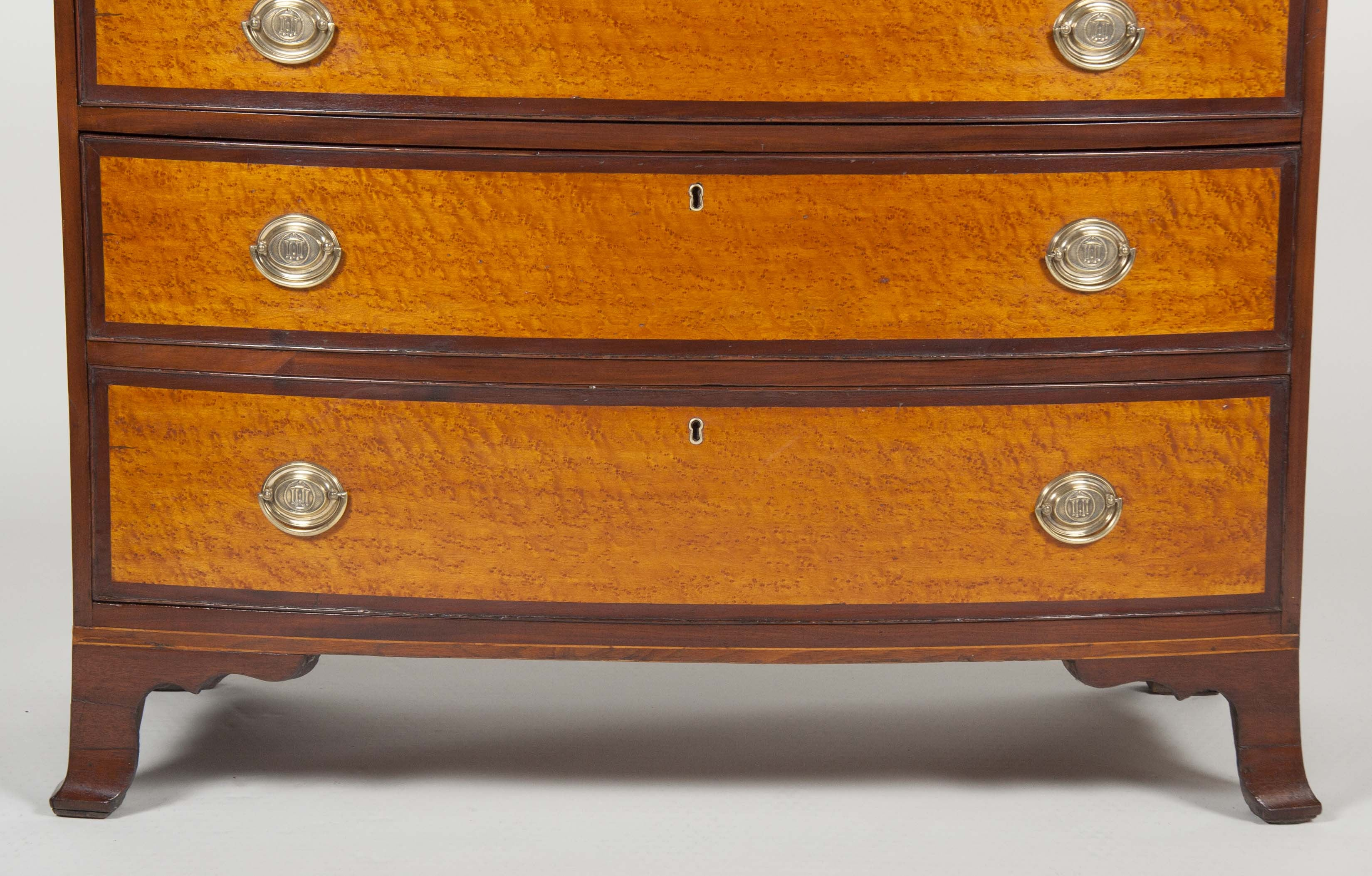 American Hepplewhite Bow Front Chest