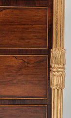 Unusual George IV Parcel-Gilt Rosewood Chest of Drawers