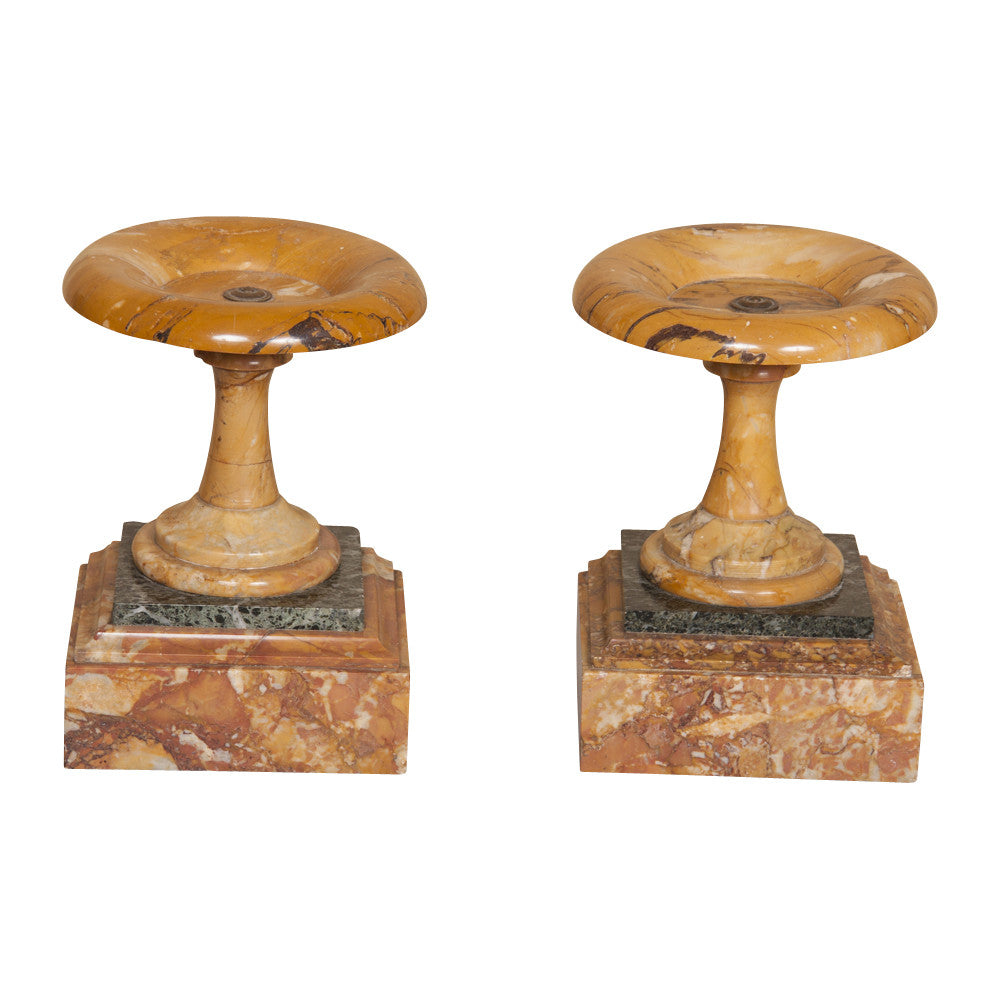 Pair of 19th Century Marble Tazza