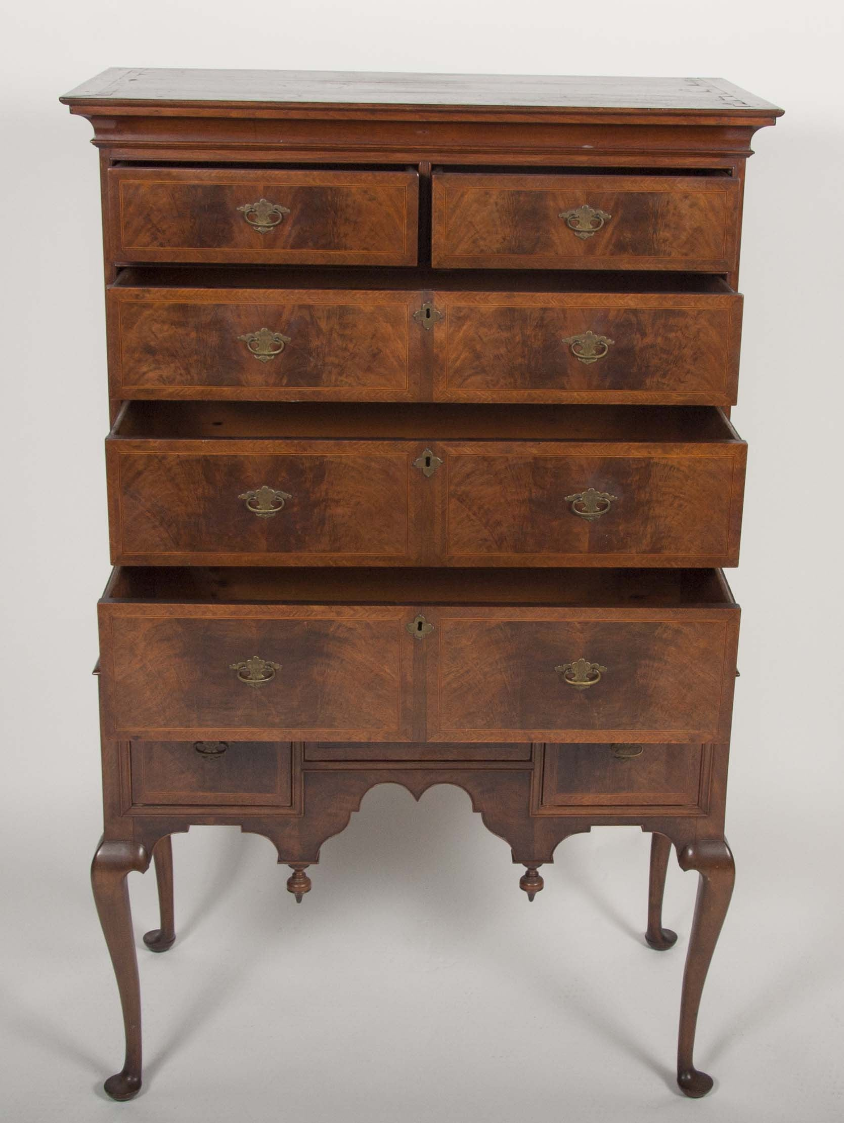 Desirable New England Diminutive Two Part Highboy