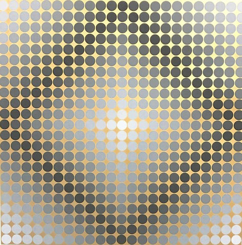 "Victor Vasarely Lithograph ""Silver and Bronze"""