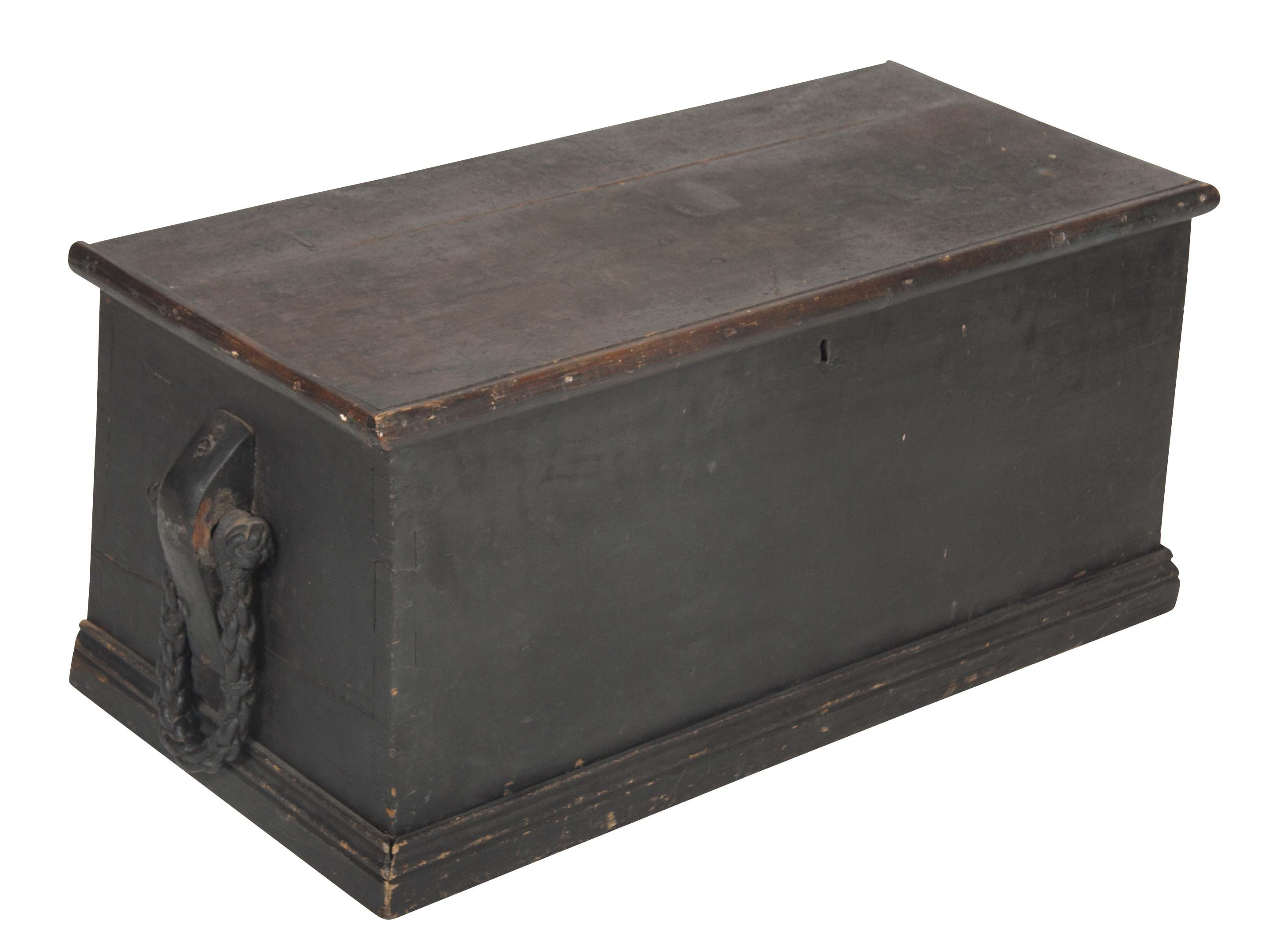 Rare Mid 19th Century American Sea Chest / Trunk or Coffee Table