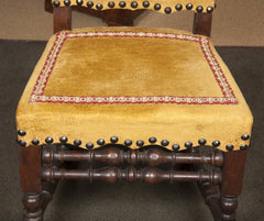 Pair of 17th Century Style Italian Side Chairs