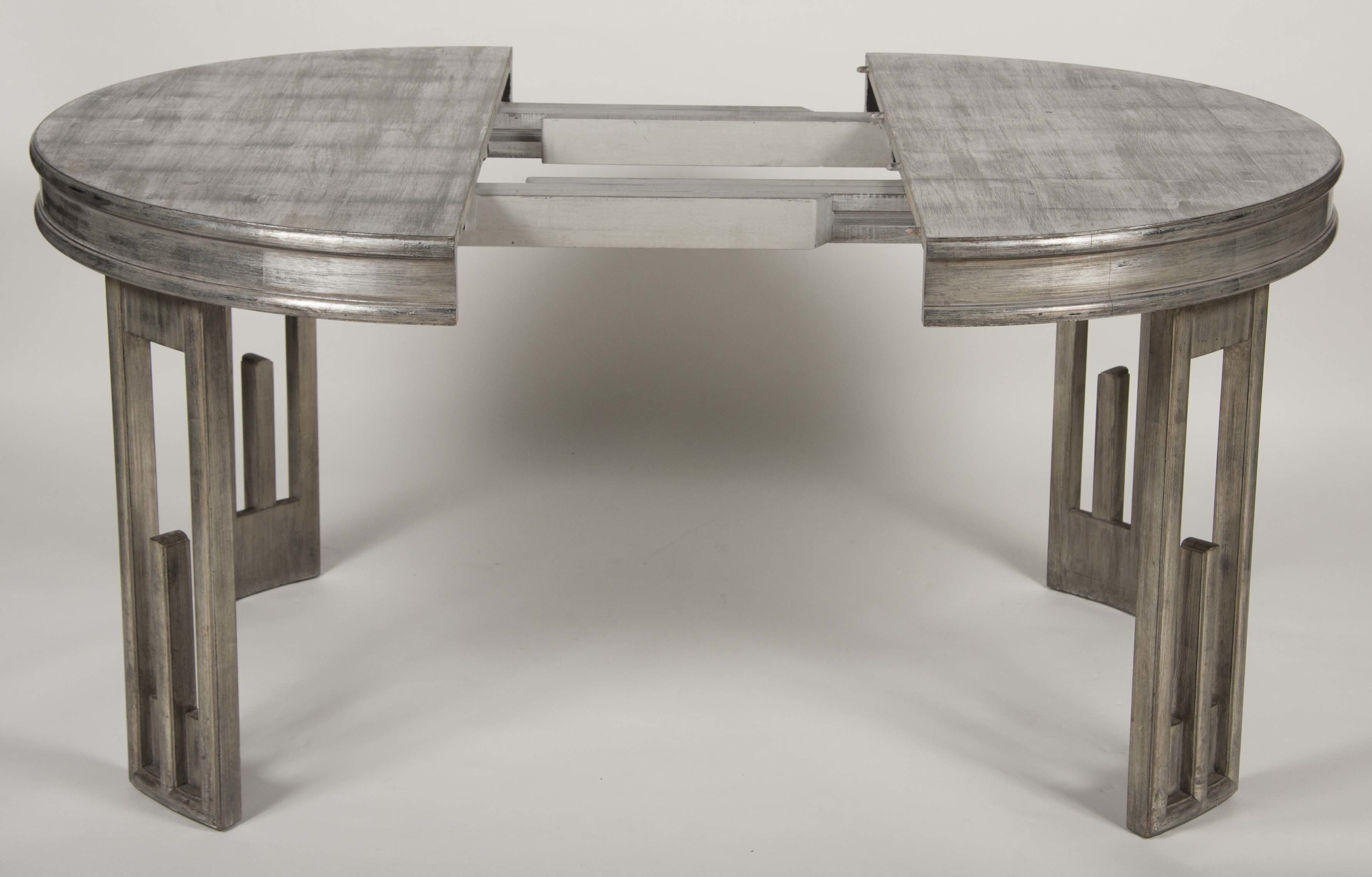 Silver Leaf Dining Table by James Mont