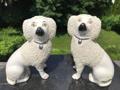 Charming Pair of Diminutive Staffordshire Spaniels