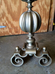 Pair of Large Scale Brass Andirons