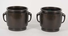 Late 19th Century Japanese Showa Bronze Cache Pots